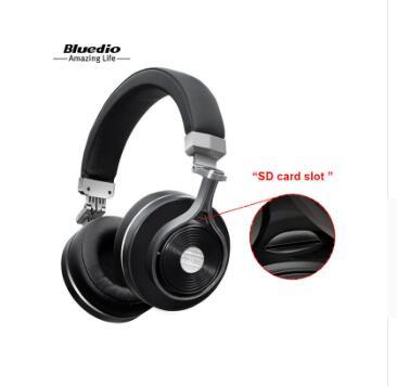 Casque d'écoute Bluetooth sans fil Bluedio T3 Plus avec Microphone Micro fente pour carte SD casque d'écoute bluetooth