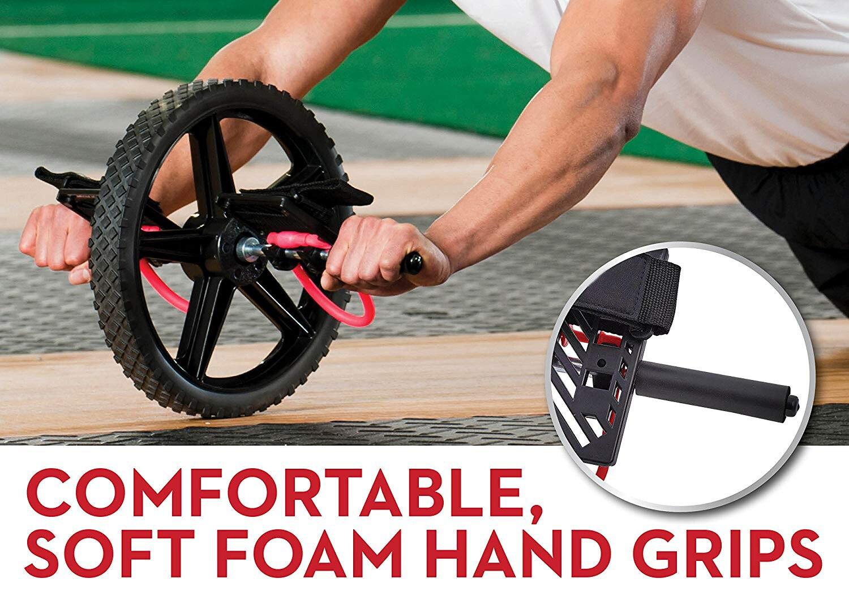 Rueda de potencia ruedas de entrenamiento de núcleo definitivo rueda Abdominal Ab rodillo para gimnasio ejercicio equipo de Fitness - 3