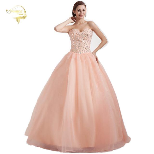 Hot New Vestido de Baile Vestidos De 15 Años Sweetheart Organza Vestidos de Debutante Pavimento Length Quinceanera Dresses 2017 OQ33799