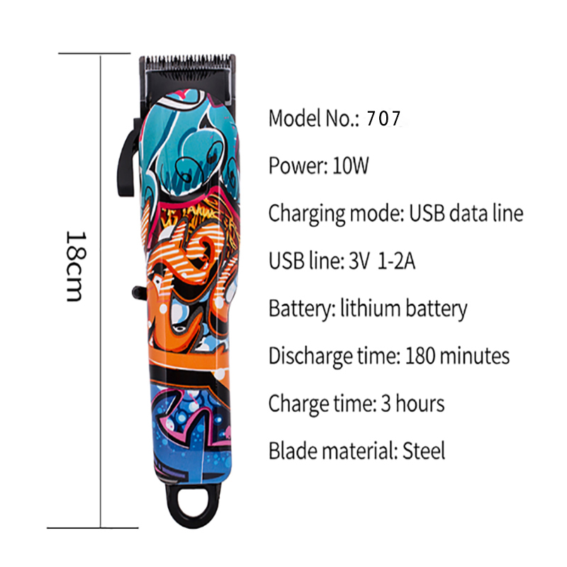 CHJ Rechargeable Hair Trimmer Electric USB Multi Color Hair Clipper Men Professional Haircut Machine Beard Razor Hair Removal in Hair Trimmers from Home Appliances