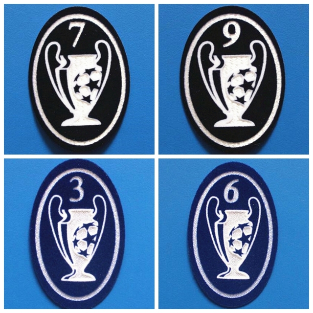 New Retro old champions league 3 5 6 7 8 9 time cup patch Print . 2ca839aa5