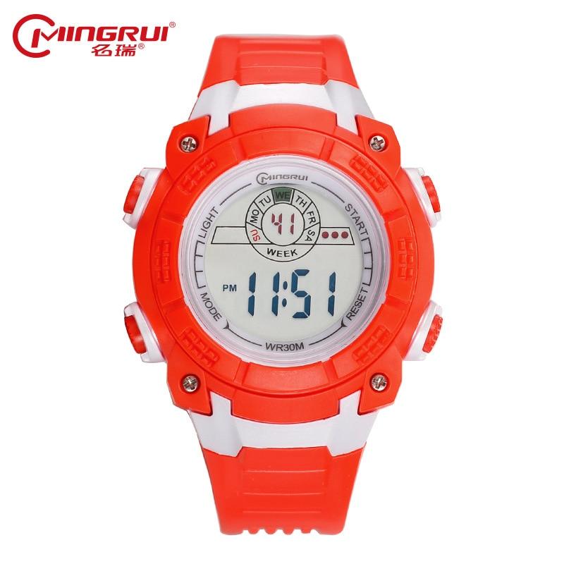 415189fda70 MINGRUI Relógio Crianças Meninos Meninas de Silicone À Prova D  Água  Esporte Relógios Estudantes Crianças Moda Digital LED Relógios Hora do  Alarme Do ...