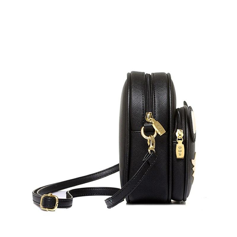 LACATTURA Sleepy Fox Women Bag Baby Girl Mini Shoulder Bag For Women Crossbody Bags Lady Leather Handbags Animal Messenger bag
