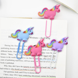 Creative Unicorn Bookmark Cute Kawaii Book Markers Paper Clip For Kids Students Office School Supplies Korean Stationery