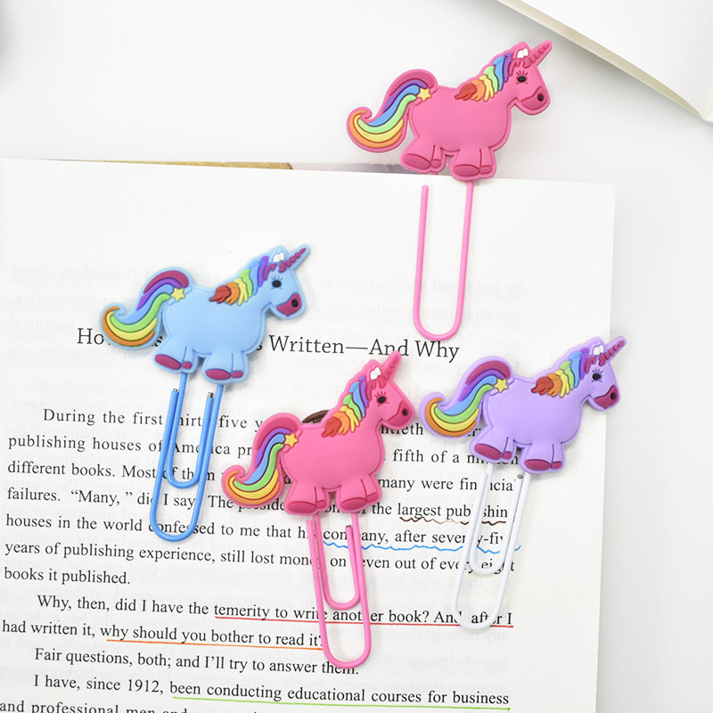 Creative Unicorn Bookmark Cute Kawaii Book Markers Paper Clip For Kids Students Office School Supplies Korean Stationery image