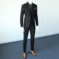 2018 Men Business Suit Spring and Autumn Korean Mens Slim Casual Suit Male Camouflage Black Suits Jacket Man Blazer Coat 365wt01