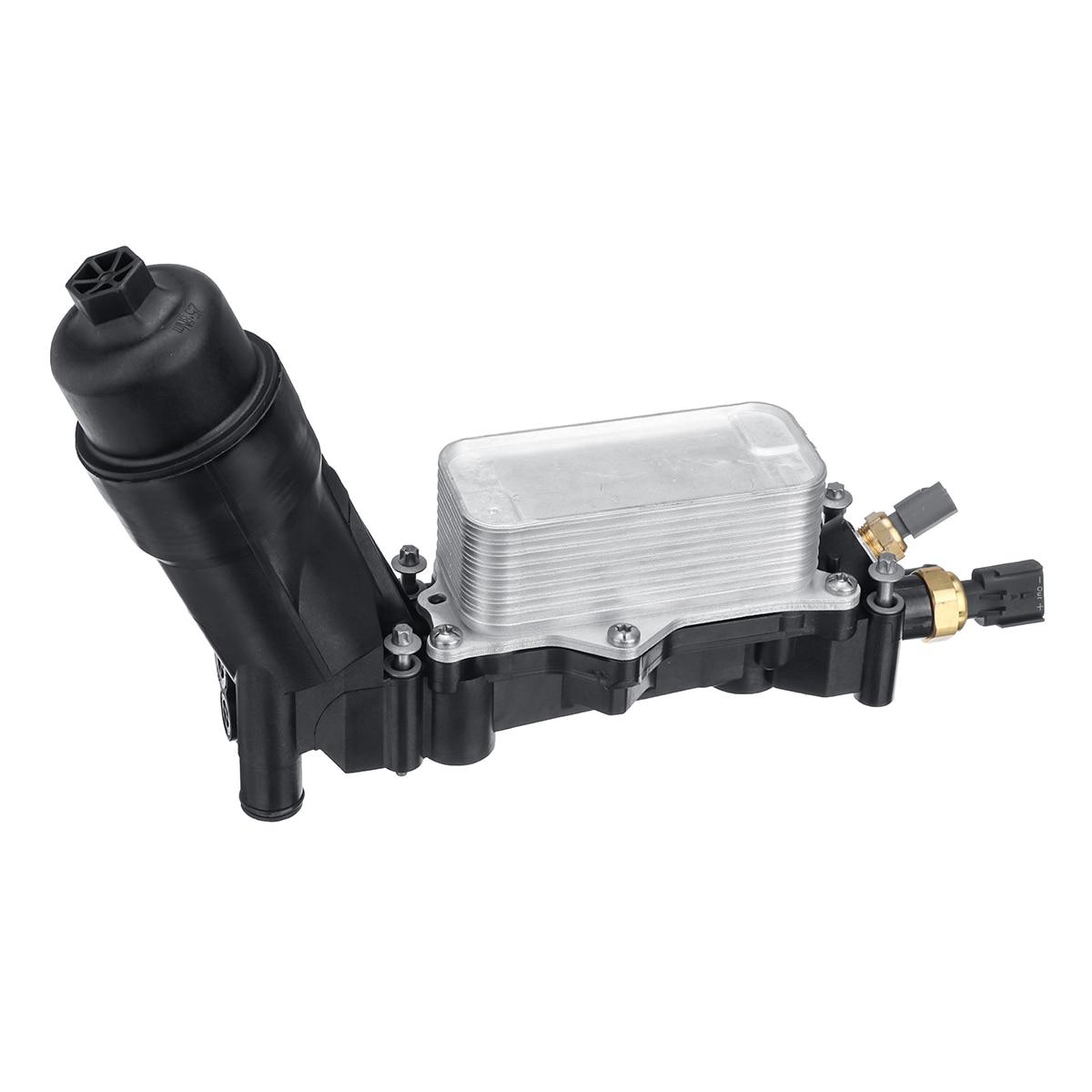 車のエンジンオイルフィルターアダプターのためのジープのためのダッジクライスラー 3.6 V6 2014 2015 2016 2017 68105583AF 68105583AB  グループ上の 自動車 &バイク からの オイルクーラー の中 3