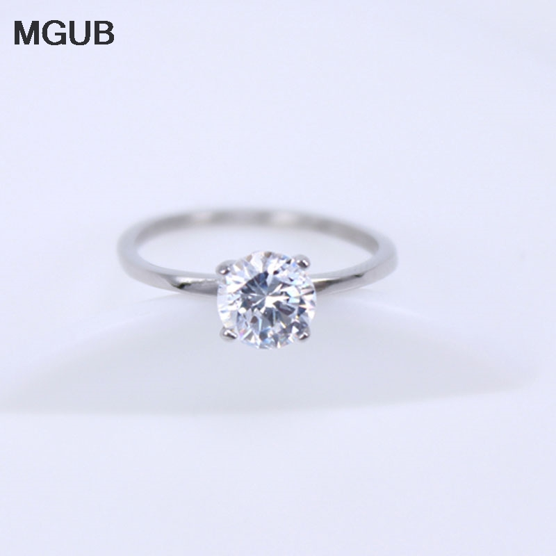MGUB Exquisite small 4-claw crystal ring Original picture display Wholesale specials for sale Free shipping Lightweight