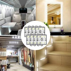 Image 4 - Luz Interior para caravana, lámpara de techo para coche y furgoneta, 60 LED, 12V, 5730 SMD, bajo consumo, alto brillo, para remolque, barco, #292140