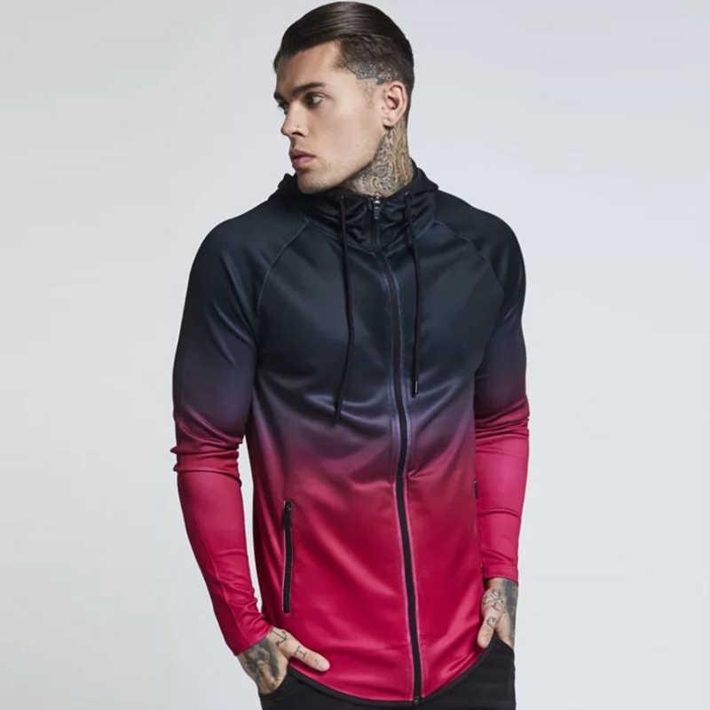 Detalle Comentarios Preguntas sobre Top Base abrigo Otoño Invierno hombres  chaqueta para correr Fitness deportes Top entrenamiento Jogger gimnasio ropa  ... 6e7f785ce970b
