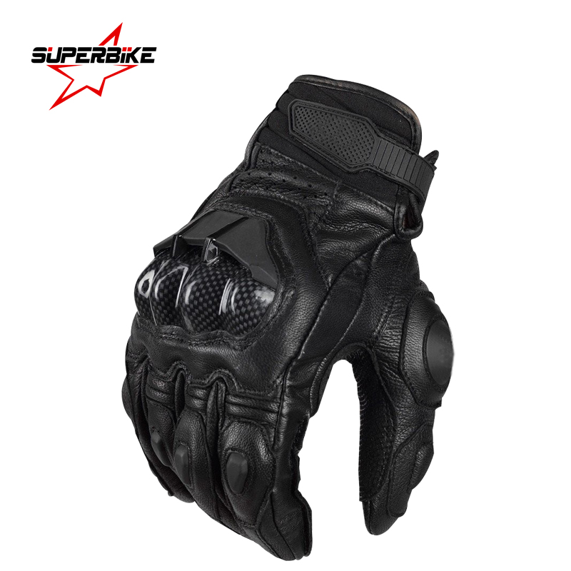 Prix pour Moto gants hommes moto en cuir motocross gant ceprotective vitesse perforation vélo vélo guantes moto luvas de motociclista