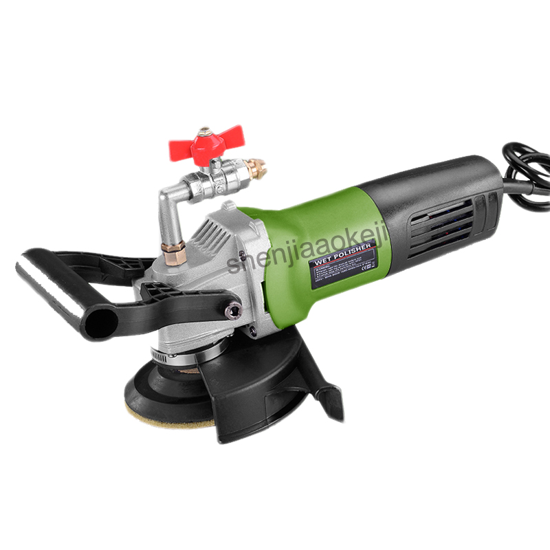 Water Injection-type Electric Stone Wet Polisher Cement Marble Polishing Machine 220V Variable Speed Handheld Electric Grinder himoskwa variable speed water mill portable water filled grinding machine electric stone hand wet polisher grinder