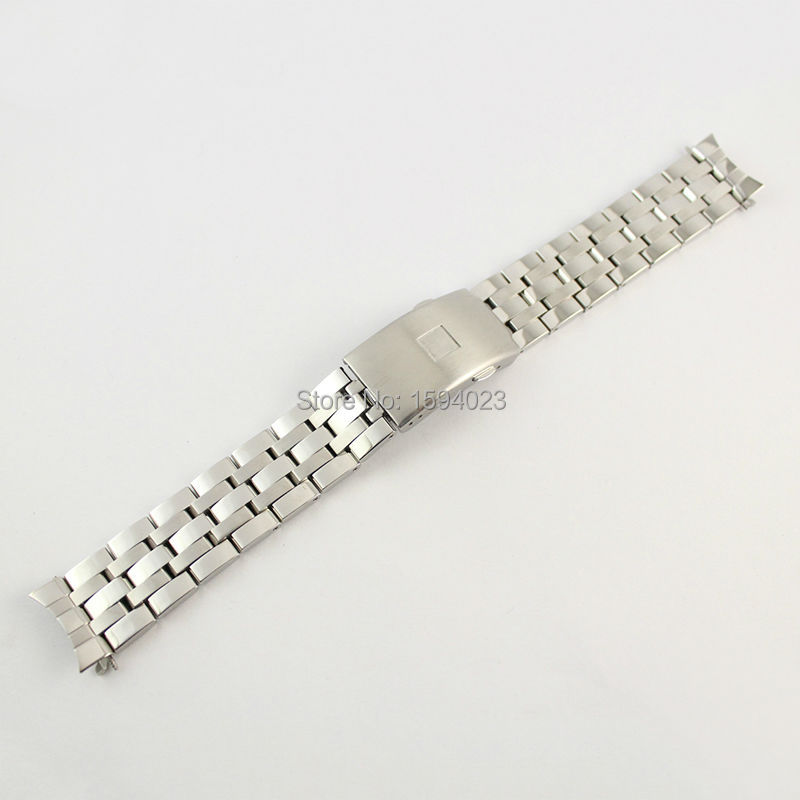 19mm PRC200 T17 T461 T014430 T014410 Watchband Watch Solid Stainless steel bracelet male strap
