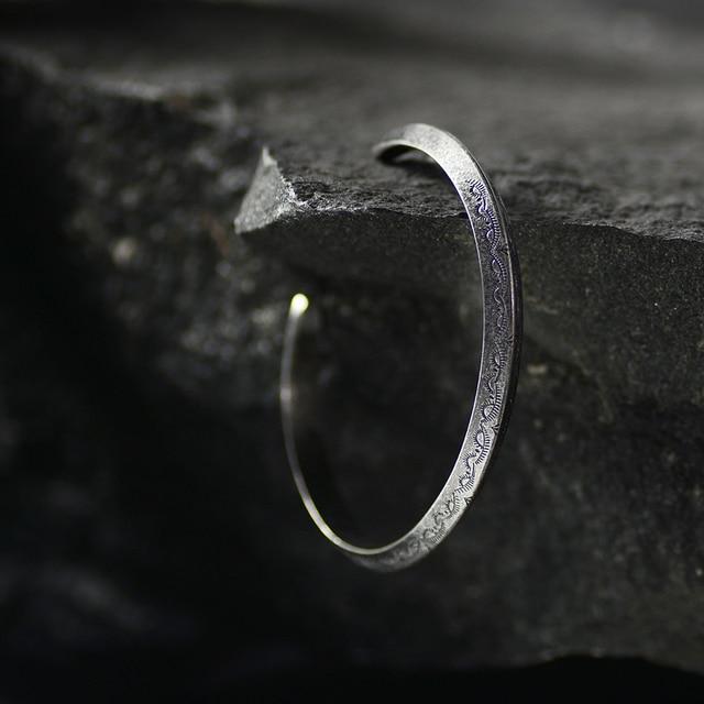 Bracelet rétro Viking titane et acier 4