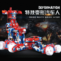 Newest Chrismas gift 2.4G remote control deformation stunt rc car Bigfoot monster cross country vehicle Flip stunt rc toys
