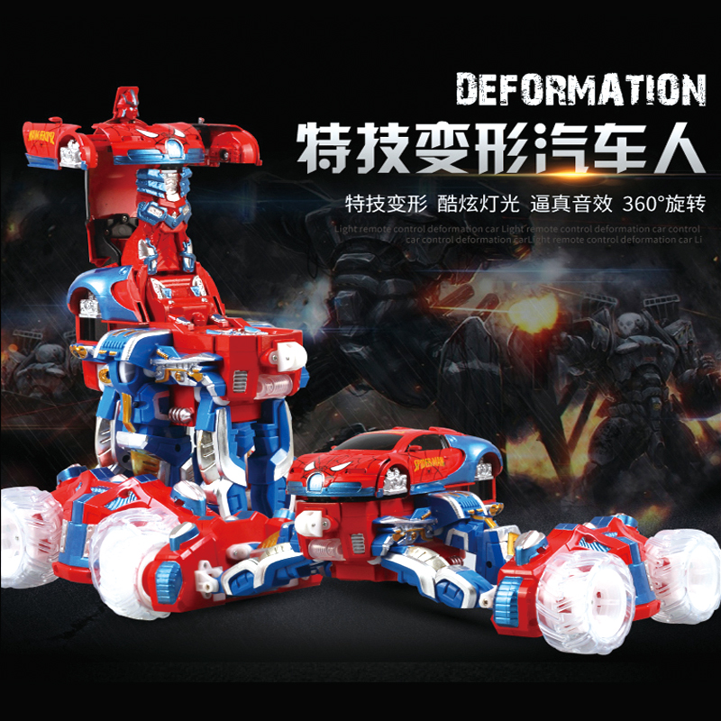 Newest Chrismas gift 2 4G remote control deformation stunt rc car Bigfoot monster cross country vehicle