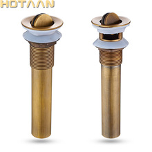 Darmowa wysyłka antyczne łazienka mosiądz Pop Up odpływu zlewu mosiądz Pop-up spustowy kosz na odpady YT-51100 tanie i dobre opinie HOTAAN Antique Brass
