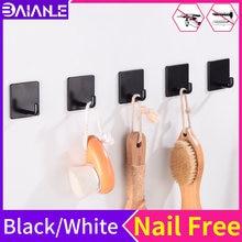 Крючки для халата черный крючок ванной комнаты вешалка хранения