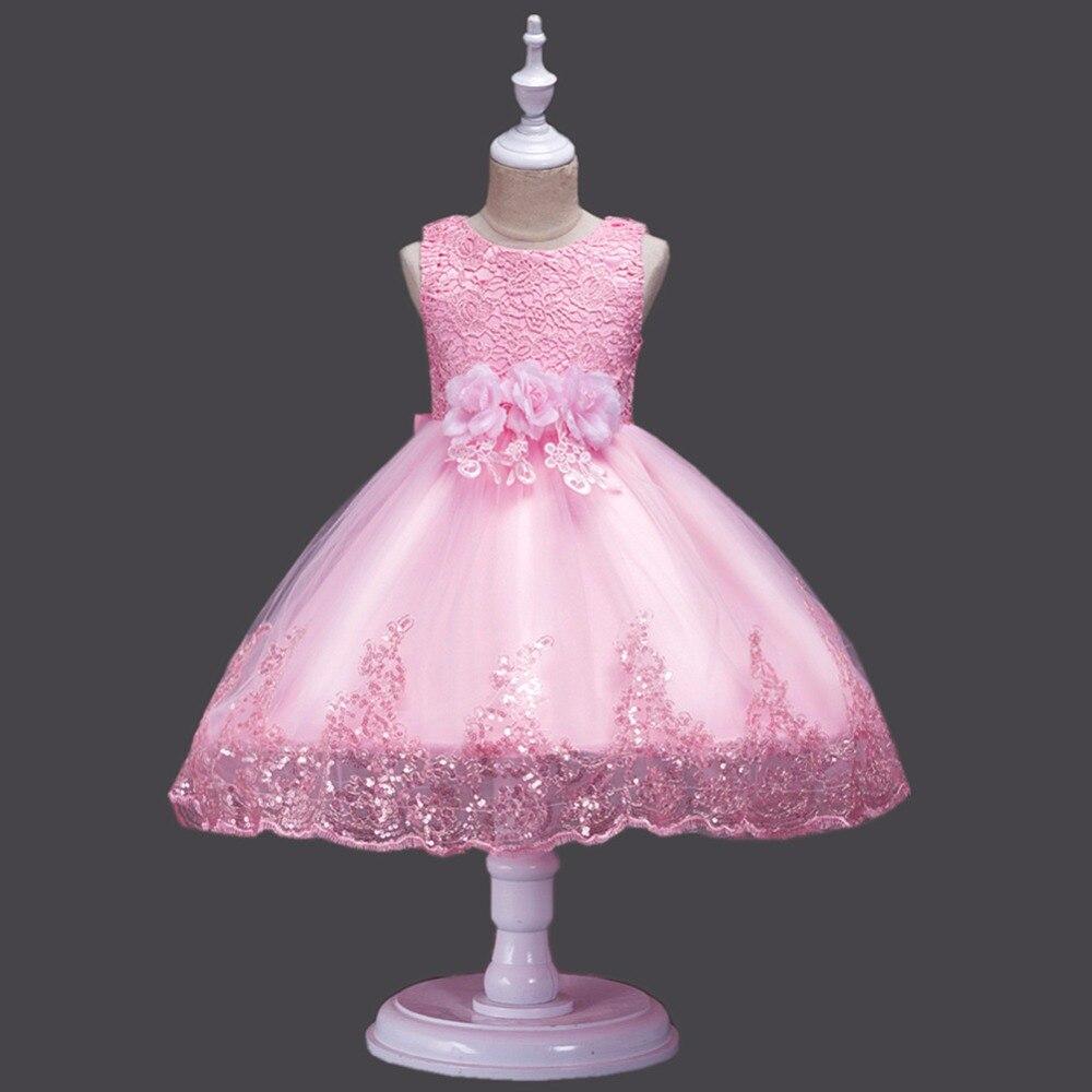 Girls Princess Dress Lace Sequin Decoration Summer Girls Dress For Girls Ball Gown Party