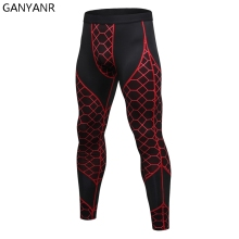 GANYANR Running Tights Men Basketball Sports Skins Leggings Fitness Gym Compression Pants Bodybuilding Jogging Football Training