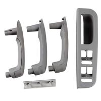 Gray Interior Door Grab Handle Cover Trim Window Switch Bezel Kit for 1999 2004 VW JETTA GOLF MK4