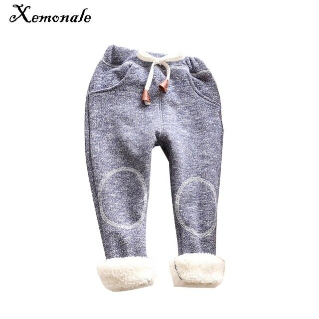 5fb4a07e289f5 Xemonale 2018 printemps enfant en bas âge fille pantalon élastique solide  décontracté enfants pantalon fille automne