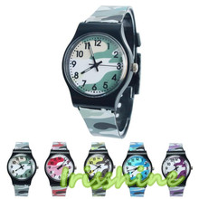 Irissshine #7015 Children watch Camouflage Watch Quartz Wristwatch For Girls Boy
