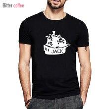 CAFÉ AMARGO Verão novo Nome Do Navio de Pirata T Camisa Impressão Curto-de Mangas Compridas T-shirt de Algodão O-Neck Moda Topos & T