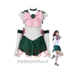 ProCosplay Sailor Moon Cosplay Costume  sailor moon Sailor Jupiter cosplay free shipping costume for women 000292