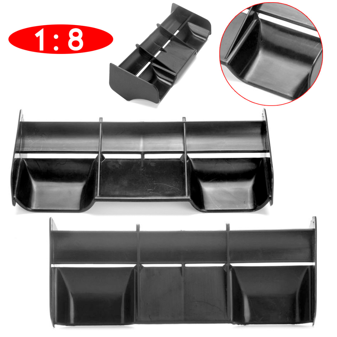 Mayitr 1PC New Rear Wing Black Plastic For 1:8 Buggy RC Cars Portable Practical Accessories High Quality