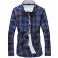 Brand Fashion Cotton Plaid Men Casual Shirt Long Sleeve Slim Fit Design High Quality Business Male Dress Shirts Plus Size 5XL