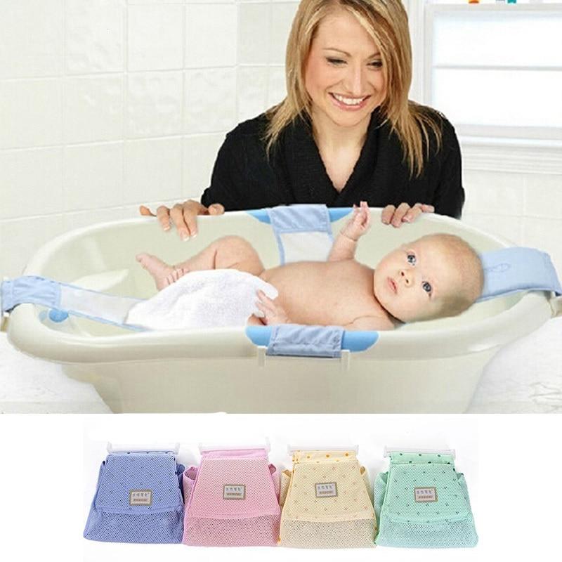 1Piece Baby Bath Seat Cross Shape Newborn Baby Shower Bathtub Screen Baby Bath Net Safety Security Seat Baby Care Support Net W4