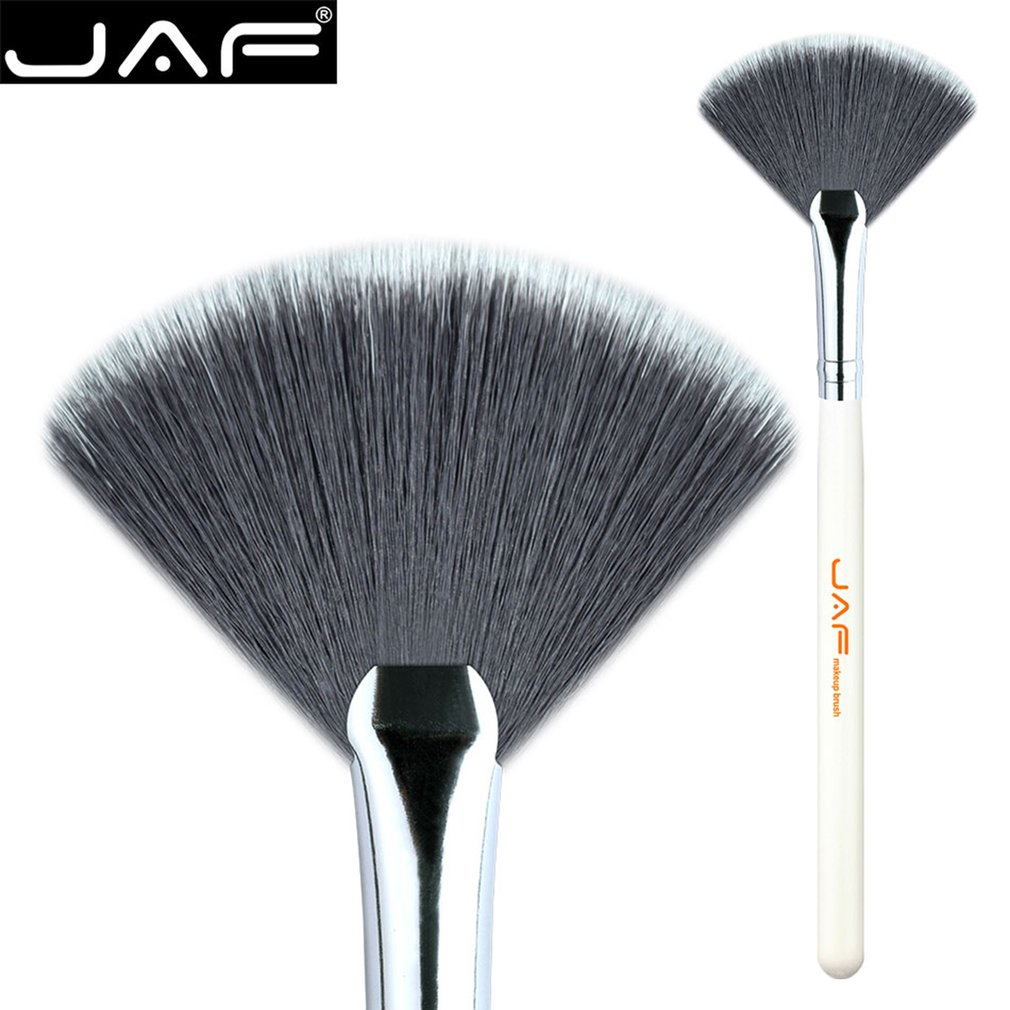 JAF Small Fan Shape Powder Contour Cosmetic Brushes Makeup Brush Soft Nylon Hair Wooden Handle Makeup Tools 07SSYF