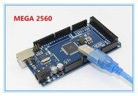Freeshipping Sduino Mega 2560 R3 Mega2560 REV3 ATmega2560 16AU Board USB Cable Compatible Good Quality Low
