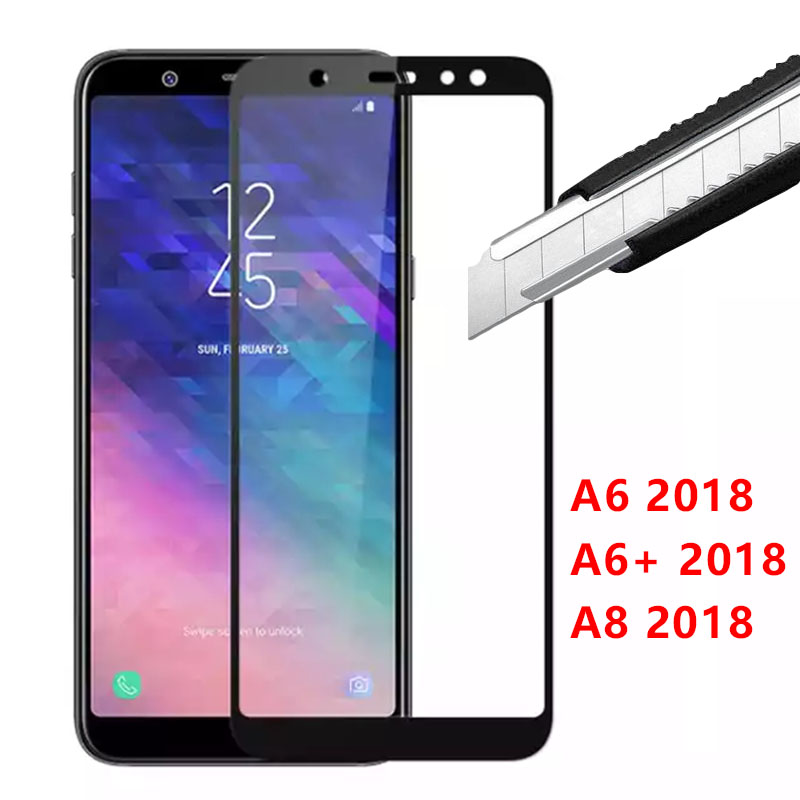 Protective Glass For Samsung A6 Plus 2018 A8 Tempered Glas Screen Protector On The Galaxy A 6 8 6a 8a A62018 A6plus <font><b>A82018</b></font> Film image