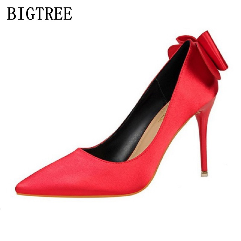 2017 Spring Autumn New Fashion sexy high heels women pumps Thin High Heels Office Ladies Shoes Woman Pointed Toe Wedding Shoes new spring autumn women shoes pointed toe high quality brand fashion ol dress womens flats ladies shoes black blue pink gray