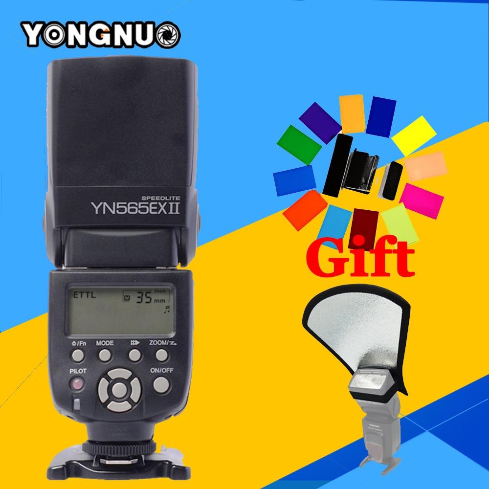 YONGNUO YN565EX II TTL Flash Speedlite For Canon 1200d 700d 600d 5d2 5d3 7d2 1100d 750d DSLR Camera YN-565EX II Flash Speedlight yn e3 rt ttl radio trigger speedlite transmitter as st e3 rt for canon 600ex rt new arrival