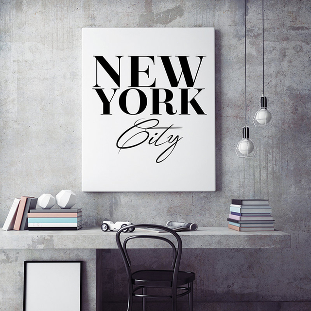 New York City Wall Art, Scandinavian print, Black and White Poster ...