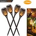 4X новый солнечный пламя мерцающий Газон лампа светодиодный фонарь реалистичный танцы пламя свет водостойкий декор для сада лампа Горячая