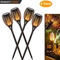 4X Neue Solar Flamme Flackern Rasen Lampe Led Taschenlampe Licht Realistische Tanzen Flamme Licht Wasserdichte Im Freien Garten Decor Lampe Hot