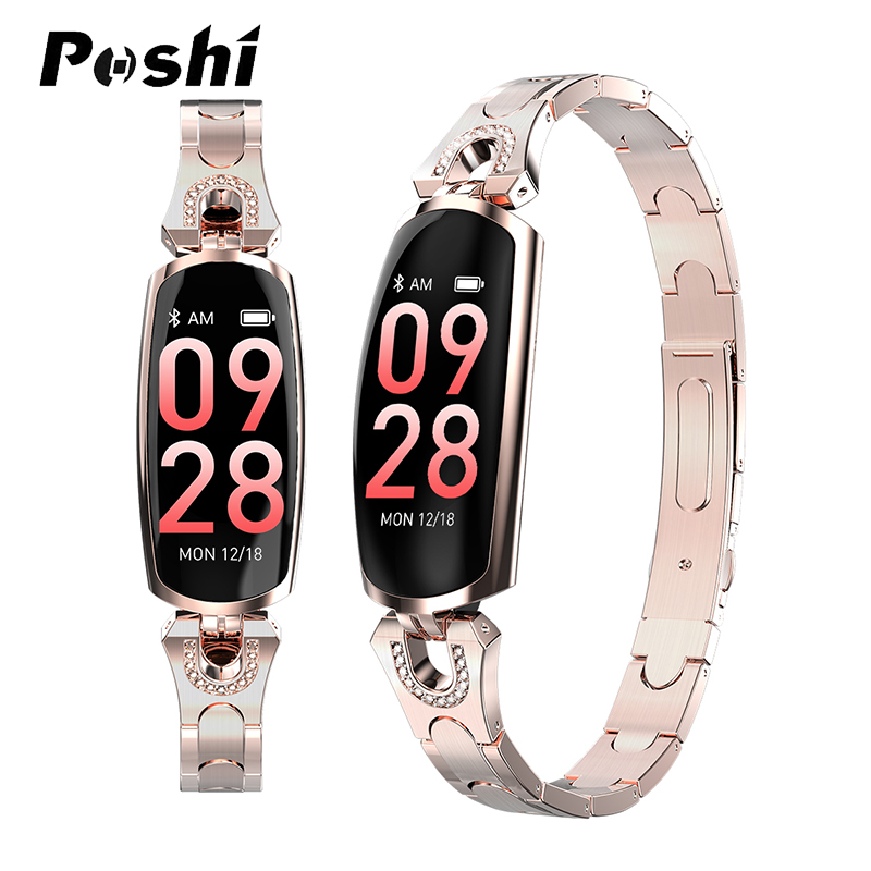 Smart Watch Women Smart Bracelet Bluetooth Camera Heart Rate Monitor Fitness Tracker For Android IOS Ladies