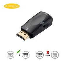 Honsigogo HDMI para Conversor Adaptador VGA com Áudio Cabo Macho/Fêmea para Fêmea Cabos 1080 P para PC/TV/Xbox PS3 projetor