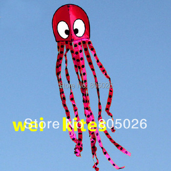 free shipping octopus kite 10 pcs/lot with kite reel line outdoor toys flying kite factory wholesale kids tools fish kite cerf недорого