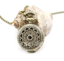 wholesale purchaser value good high quality trend woman lady new bronze good mini determine vintage pocket watch necklace hour