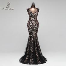 Poems Songs Double V Mermaid  Evening Dress prom gowns Formal Party dress vestido de festa Elegant Vintage robe longue