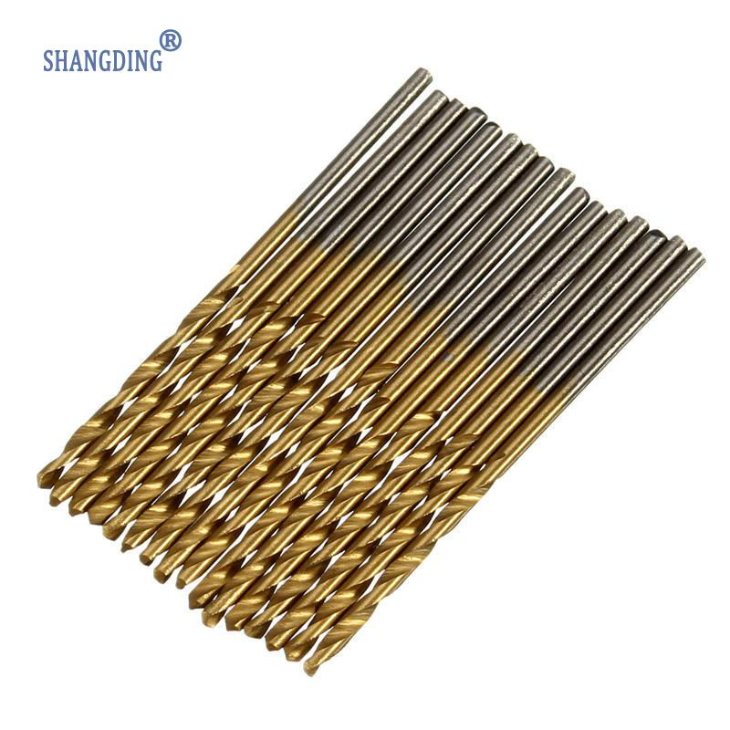Top Selling 100pcs/Set Titanium Coated 1.5mm-10mm High Speed Steel HSS Drill Bit SET Tool Best Price top high speed full teeth piston