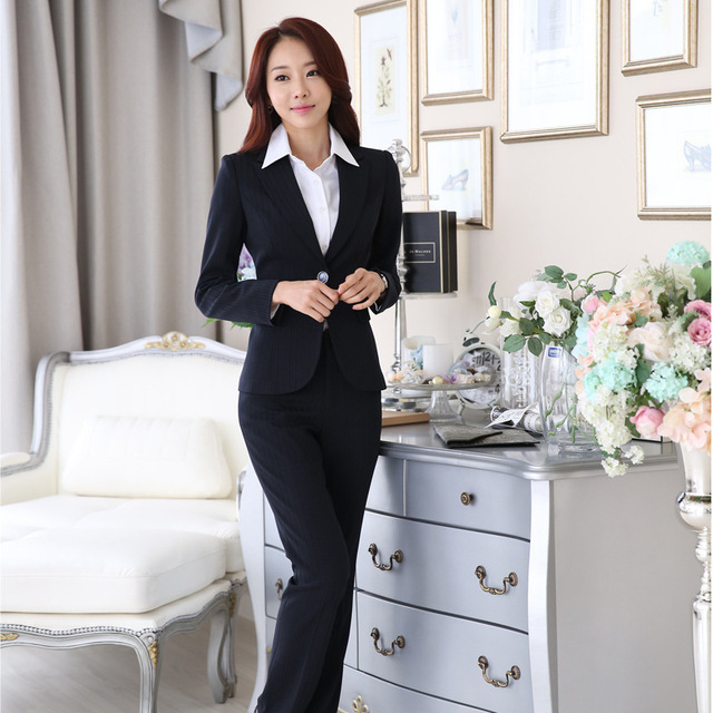 New Autumn Wear Overalls Female Long Sleeved Dress Ol Hotel Front Desk Manager Fashion