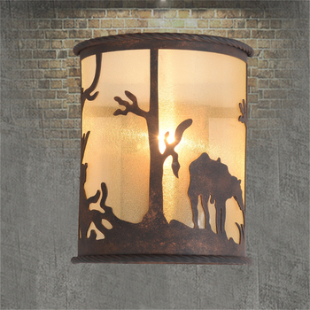 Американский Скандинавский Ретро Железный бра для ресторана Гостиная Спальня прикроватный свет зеркало лампа прохода лампа для лестницы Б...