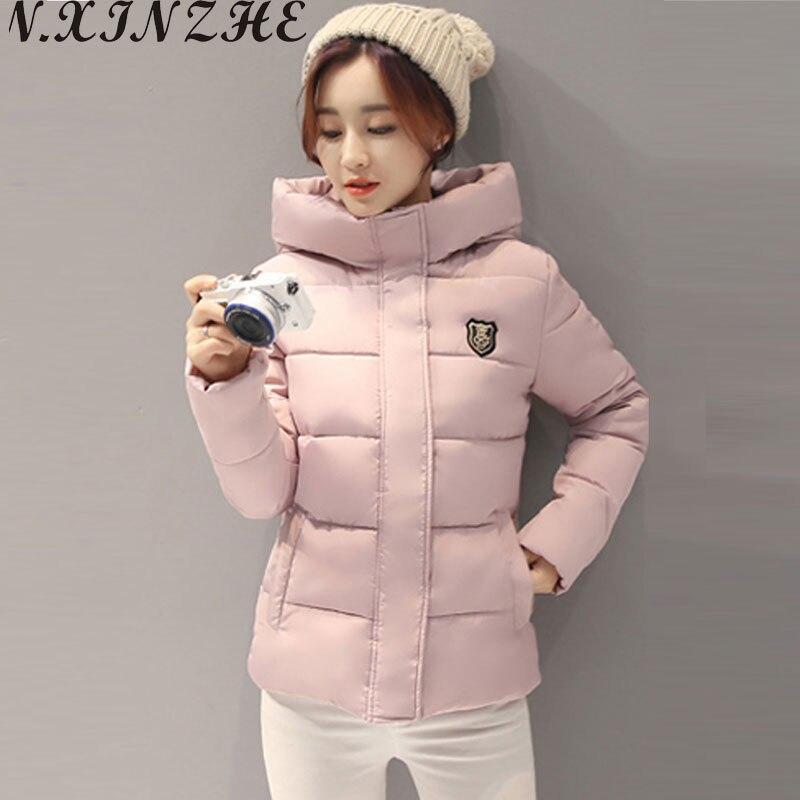 N.XINZHE Winter jacket women Coat Hooded Slim Wadded   Parkas   2017 Wear Winter Coats Outwear for Lady chaqueta mujer Plus Size 3XL