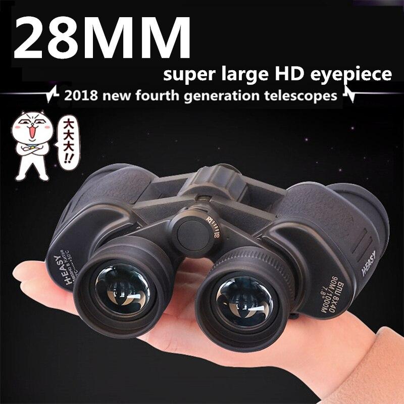 Super grand oculaire HD grandes jumelles puissant binoculaire militaire métal FMC Film vert longue portée zoom télescope de voyage